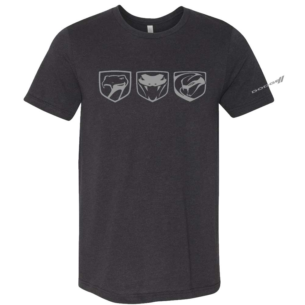 Mens Dodge Viper Tri-Logo T-shirt (Black)
