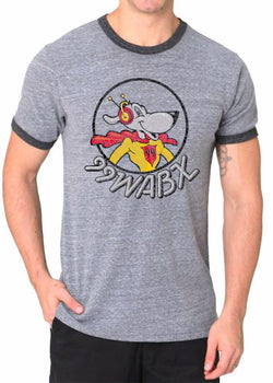 Mens Triblend WABX Ringer T-shirt (Grey) | Detroit Shirt Co.