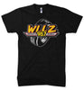 Mens WLLZ Detroit's Wheels T-shirt (Heather Black) | Detroit Shirt Co.