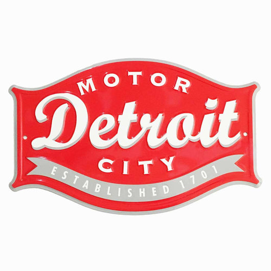 Sign - Detroit Buckle