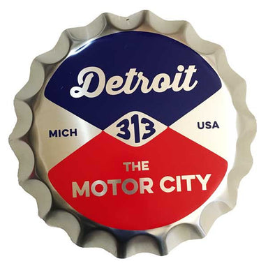 Sign - Reel Bottle Cap-Sign-Detroit Shirt Company
