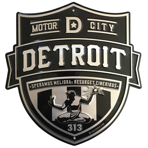 Sign - Detroit Shield-Sign-Detroit Shirt Company