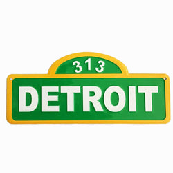 Sign - Detroit 313 Street Sign-Sign-Detroit Shirt Company