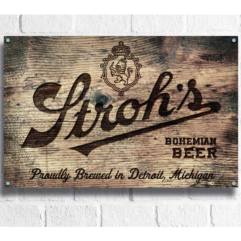 Wood Sign - Stroh's Crate