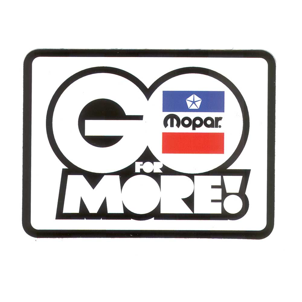 Sticker - Mopar Go For More