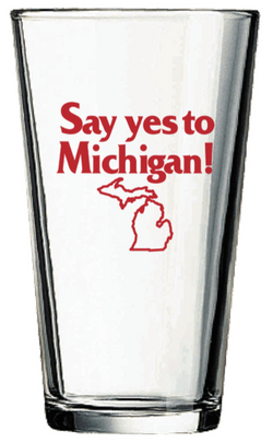 Pint Glass - Say Yes to Michigan