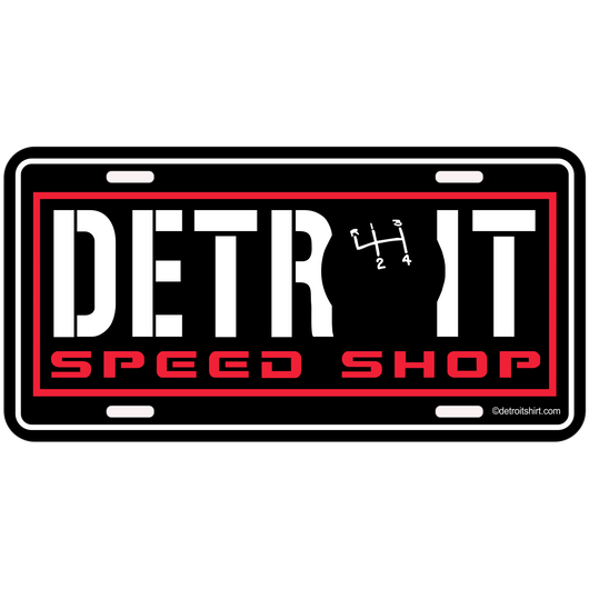 Sign - Detroit Speed Shop Shifter-Sign-Detroit Shirt Company