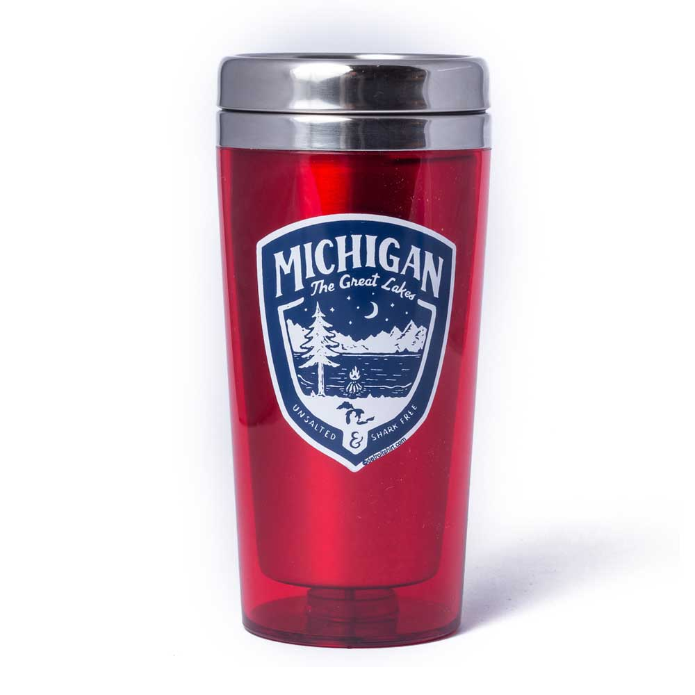 Travel Mug - Michigan Shield
