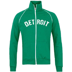 Fleece - Detroit Bend Track Jacket Sweatshirt - Kelly Green