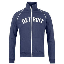 Fleece - Detroit Bend Track Jacket Sweatshirt - Navy