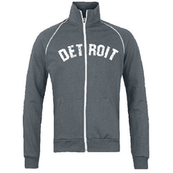 Fleece - Detroit Bend Track Jacket Sweatshirt - Slate Grey
