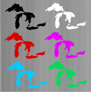Vinyl Decal - Michigan Lakes-Sticker-Detroit Shirt Company