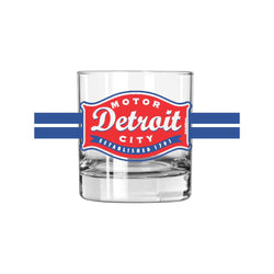 Whiskey Glass - Detroit Buckle-Glassware-Detroit Shirt Company