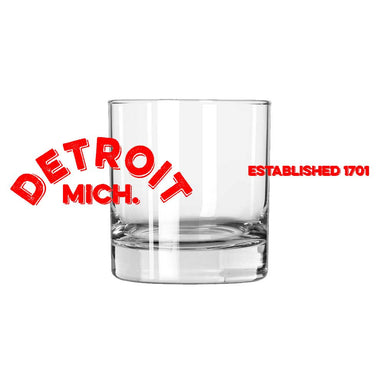 Whiskey Glass - Detroit Arch-Glassware-Detroit Shirt Company