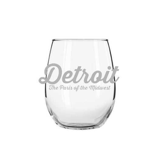 Wine Glass - Detroit The Paris of the Midwest