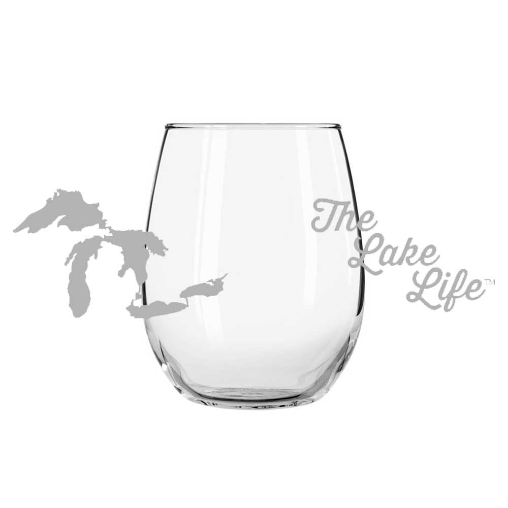 Wine Glass - The Lake Life-Glassware-Detroit Shirt Company