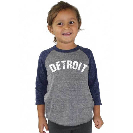 Youth - Detroit Bend Triblend 3/4 Sleeve Baseball T-shirt