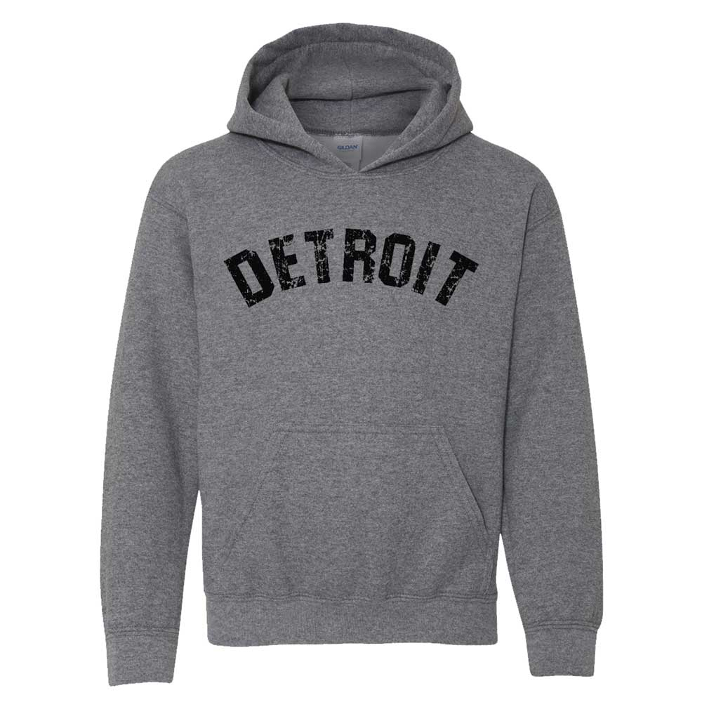 Youth - Detroit Bend Hoodie - Heather Charcoal