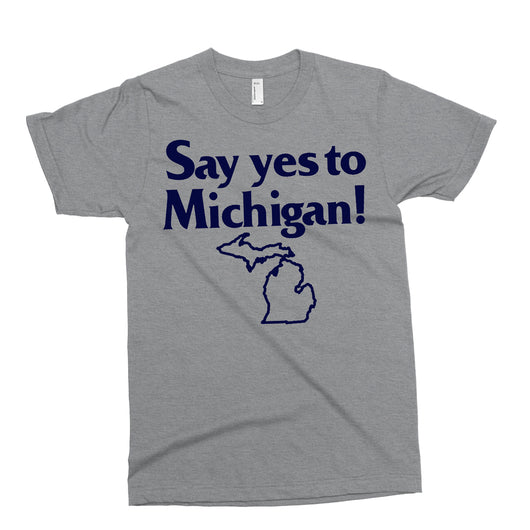 Youth - Say Yes To Michigan T-shirt - Triblend Grey