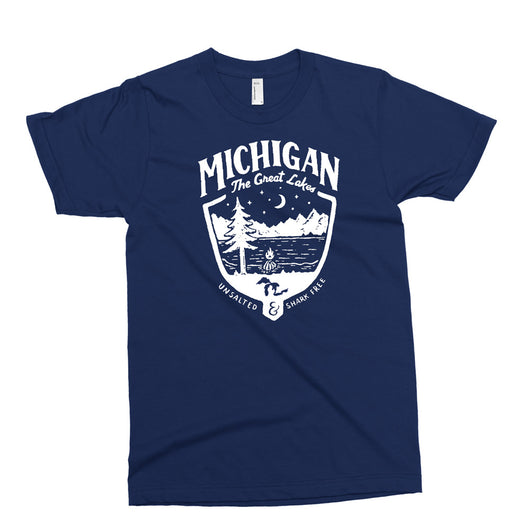 Youth - Michigan Shield - Navy-Youth-Detroit Shirt Company
