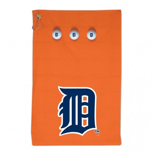 Detroit Tigers - Golf Towel and 3 Golf Ball pack