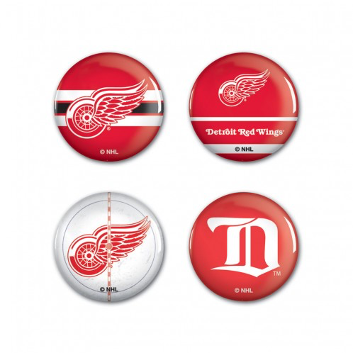 Detroit Red Wings - 4 button pack
