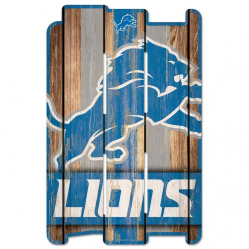 Detroit Lions - Wood Fence Sign