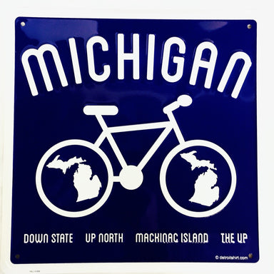 Sign - Michigan Bike-Sign-Detroit Shirt Company