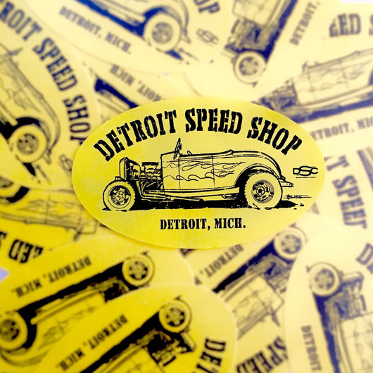 Sticker - Detroit Speed Shop Ratrod-Sticker-Detroit Shirt Company