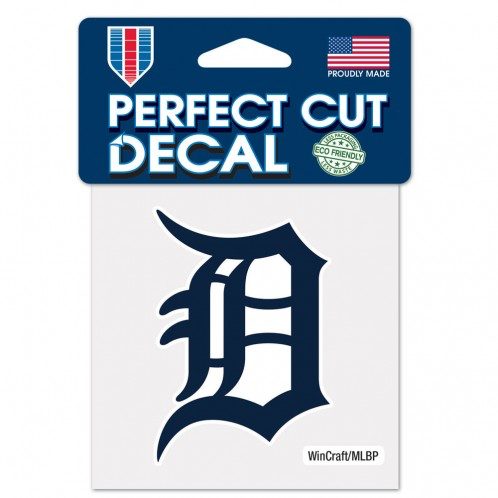 "Detroit Tigers - 4"" Navy Logo Decal"