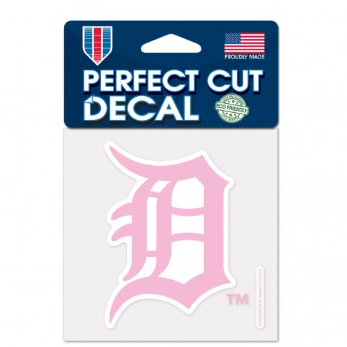 "Detroit Tigers - 4"" Pink BCA Decal"