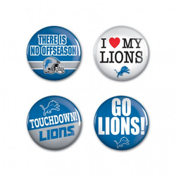 Detroit Lions - 4 button pack