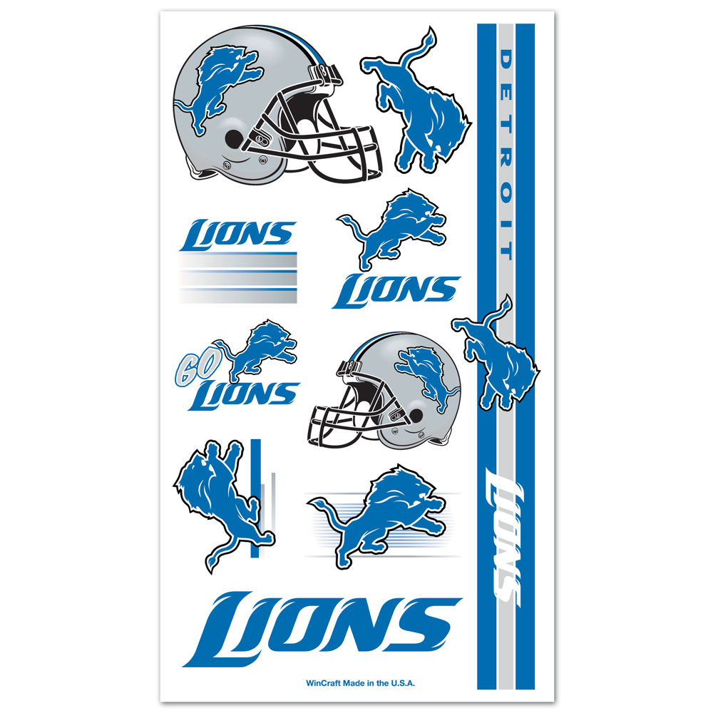 Detroit Lions - Tattoo Sheet