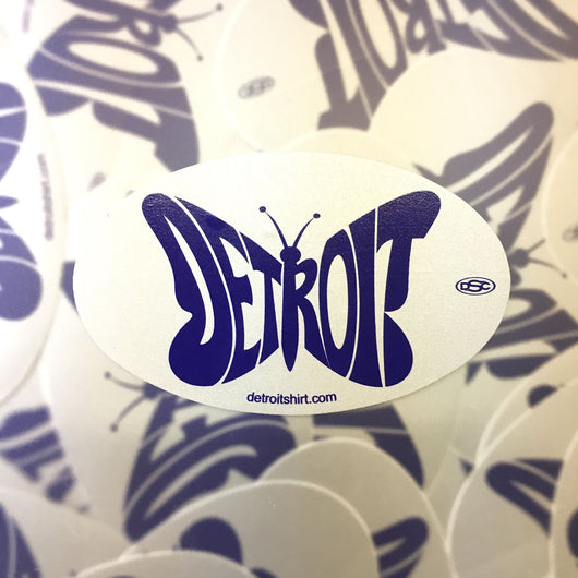 Sticker - Detroit Butterfly-Sticker-Detroit Shirt Company
