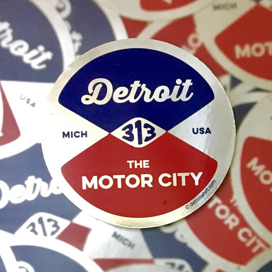 Sticker - Detroit Reel-Sticker-Detroit Shirt Company