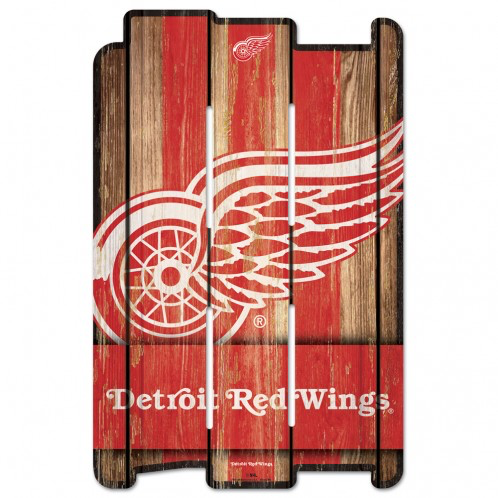 Detroit Red Wings - Wood Fence Sign