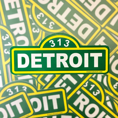 Sticker - Detroit Street Sign-Sticker-Detroit Shirt Company