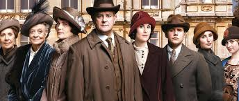 Downton Abbey cast with hats on
