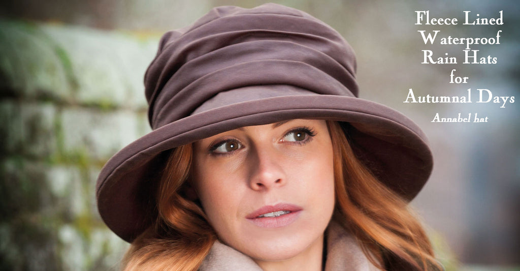 Olney Annabel Brown Waxed Rain Hat On Woman