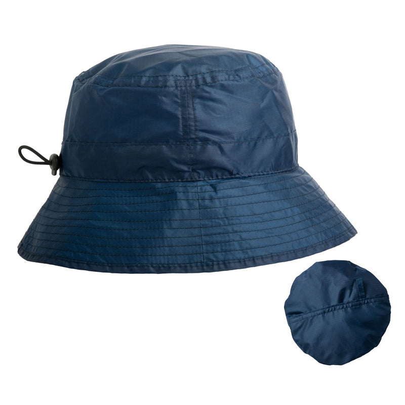 proppa toppa blue ladies rain hat that folds into a pouch