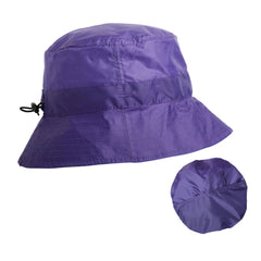 Purple Packable Rain Hat By Proppa Toppa