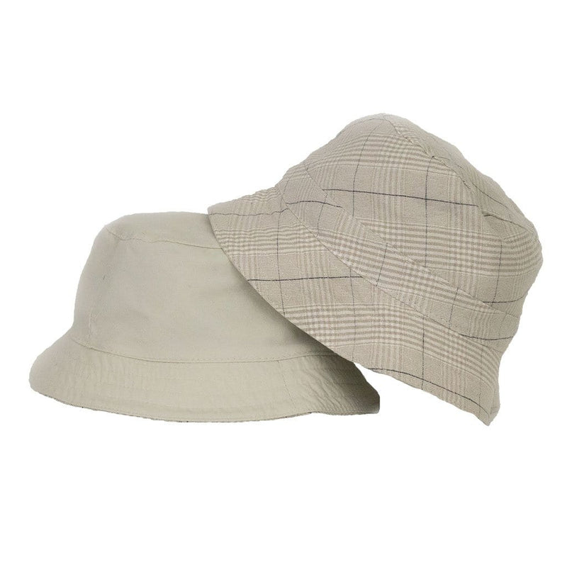Olney Jack cream reversible linen bucket hat