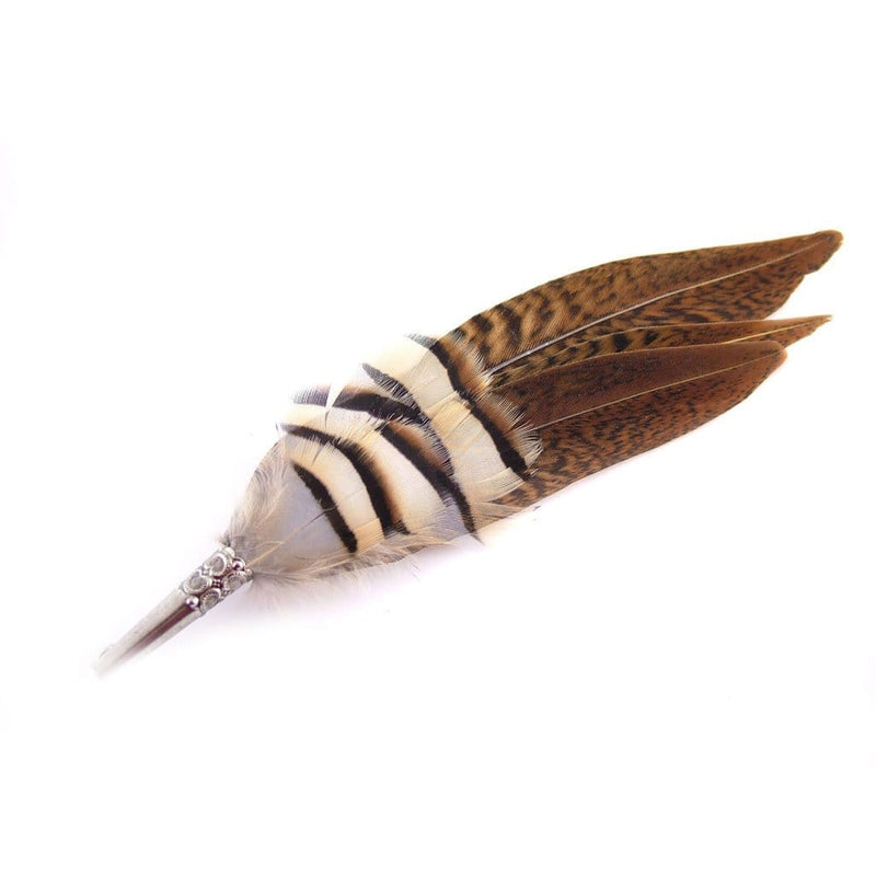Feather Hat Pin - Partridge & Pheasant