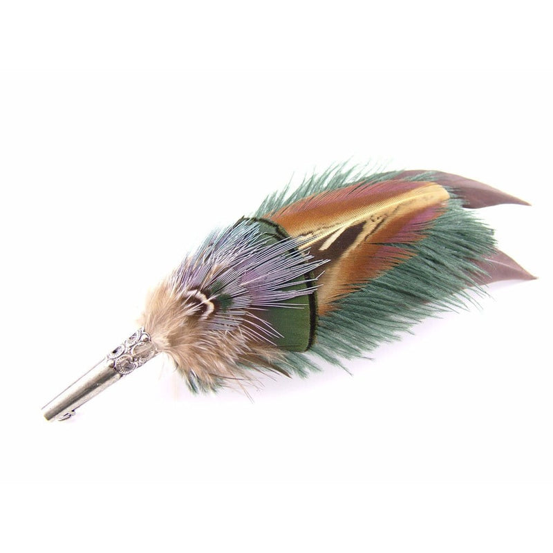 Feather Hat Pin - Gamebird & Ostrich