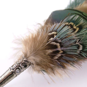 Feather Brooch/Hat Pin - Gamebird & Ostrich
