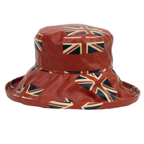 red union jack ladies rain hat