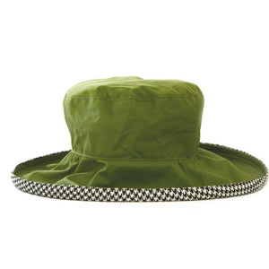 Bradleys Tannery Kate Green Wax Hat With Houndstooth Lining