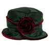jojo-hats-phoebe-ladies-rain-hat-with-burgundy-flower-and-trim-back-view