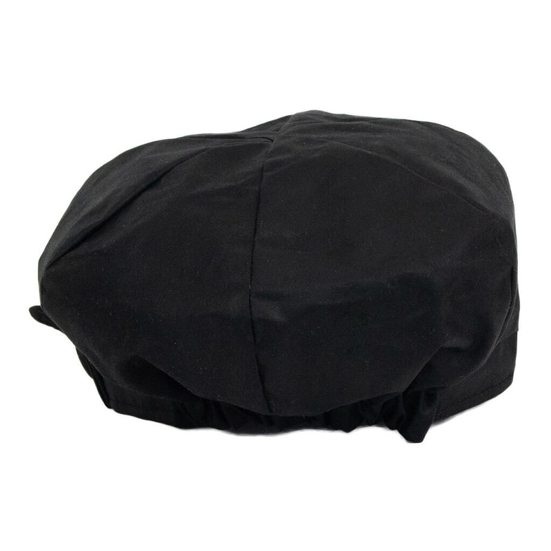 back-view-of-black-waxed-baker-boy-cap