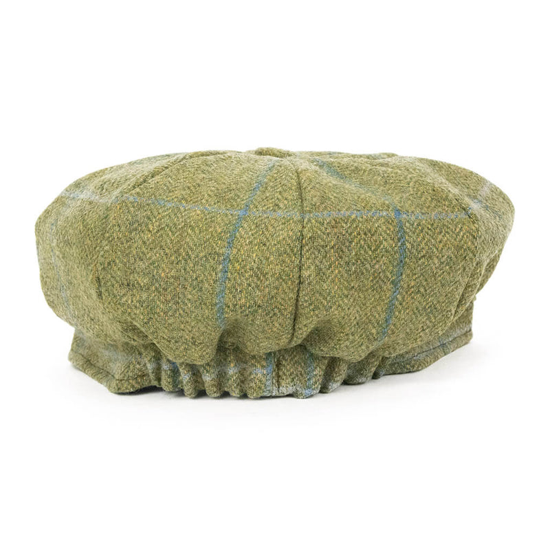 green-tweed-baker-boy-cap-view-from-behind